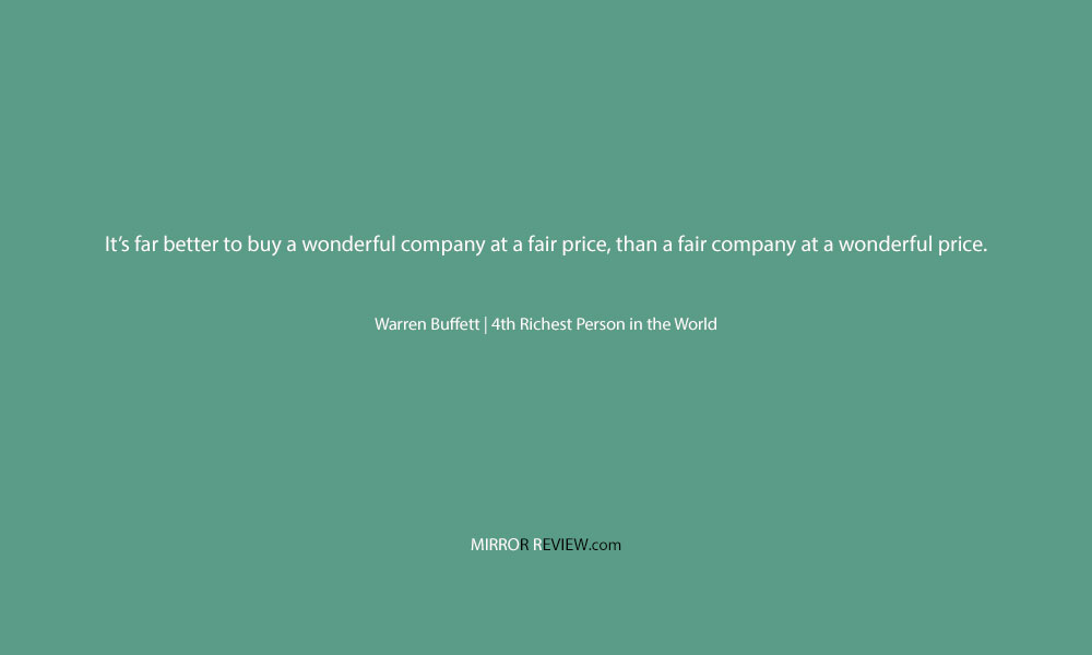 A quote by Warren Buffett, 4th Richest Person in the World at Mirror Review