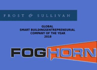 Frost & Sullivan honored FogHorn as the 2018 Global Smart Buildings Entrepreneurial Company of the Year