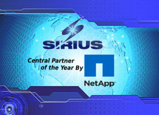 Sirius Named Central Partner of the Year by NetApp