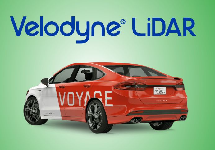 Voyage autonomous vehicle become partner With Velodyne