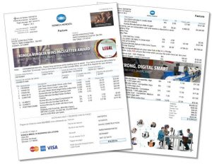 Invoice Konica Minolta - Spanish Press Release 2 Pages Fanned Quality