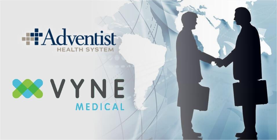 Vyne Medical partnership with Adventist Health System