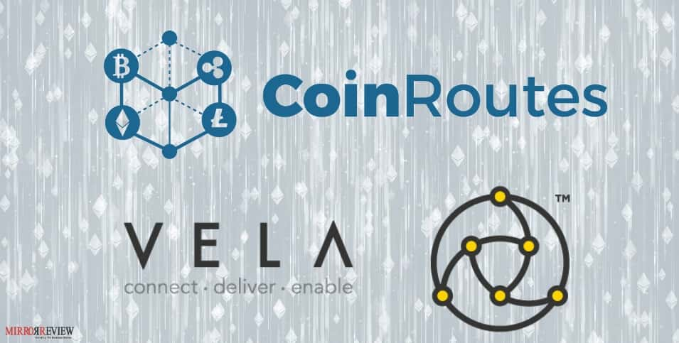 Vela partners CoinRoutes