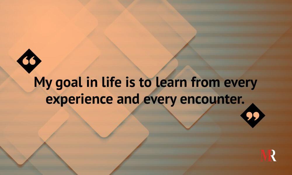 Rakesh Tiku's goal in life